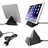 Heat Resistant Fast Charging 2AMP Dual USB Port With Mobile / IPad / Tablet Holder Cradle
