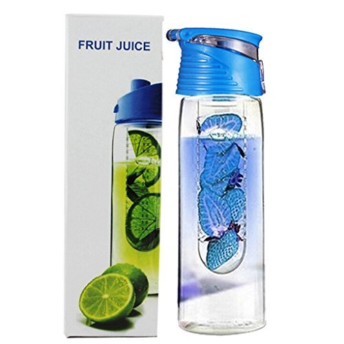 Water Bottle Tritan Fruit Infuser BPA-Free 800ml 27oz