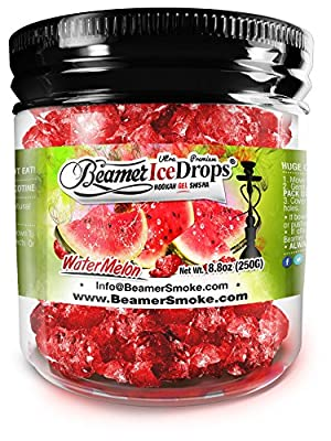 Watermelon Ultra Premium Beamer Ice Drops Hookah Shisha Smoking Gel. Each bowl lasts 2-4 Hours! USA Made, Huge Clouds, Amazing Taste! Better Taste & Clouds than Tobacco!