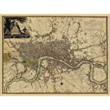 A New Map of London 1800, Large