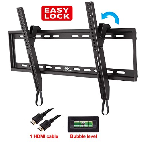 Mounting Dream® Md2268-L Tilt Tv Wall Mount Bracket For 40-65 Inch Tvs Including Led, Lcd And Plasma Flat Screens With Vesa 75X75 To 600X400Mm, Loading Capacity 132 Lbs, 0-10 Degree Forward Tilt, Including 6 Ft Hdmi Cable And Magnetic Bubble Level (For Sa