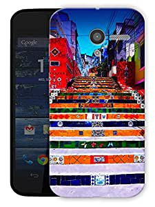 """Stairway Colorful Printed Designer Mobile Back Cover For """"Motorola Moto X"""" By Humor Gang (3D, Matte Finish, Premium Quality, Protective Snap On Slim Hard Phone Case, Multi Color)"""