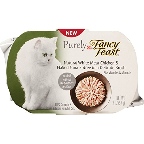 Purina Purely Fancy Feast Natural White Meat Chicken and Flaked Tuna Entree Cat Food, 2-Ounce Pouch, Pack of 10 (Fancy Feast Meat compare prices)
