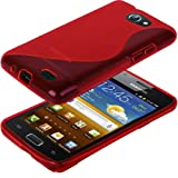 IGloo 'S' Style Hydro Gel Skin Cover Case For The Samsung Galaxy R i9103 Mobile Phone - Red