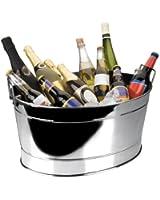 Vasque à champagne / bassine ovale en inox 18/10 - 43 x 30 x 20 cm Vasque à champagne