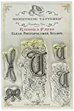 Something Tattered Clear Stamps, 4 by 4-Inch, Monogram Initial T