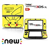 [new 3DS XL] Pokemon Pikachu Yellow Limited Edition VINYL SKIN STICKER DECAL COVER for NEW Nintendo 3DS XL / LL Console System