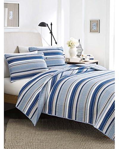 Stone Cottage Fresno Blue Cotton Quilt Set