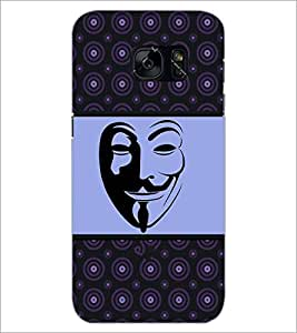 PrintDhaba Mask D-6029 Back Case Cover for SAMSUNG GALAXY S7 (Multi-Coloured)