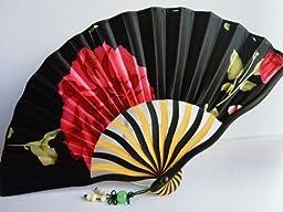 TANG DYNASTY(TM) High Quality japanese Silks and Satins Handheld Fan Hand Fan Jhf-142