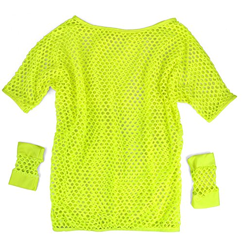 Topro Women's Neon Fancy Dress Mesh Net Vest Lingerie Top Sexy Costume