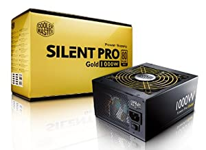 Cooler Master Silent Pro Gold 1000W 80 PLUS Gold Power Supply with Modular Cables (RSA00-80GAD3-US)