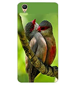 ColourCraft Love Birds Design Back Case Cover for OPPO R9