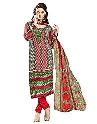 fabgruh Red colour dress material
