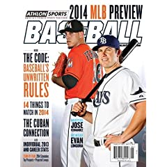 2014 Athlon Sports MLB Baseball Preview Magazine- Tampa Bay Rays Miami Marlins Cover