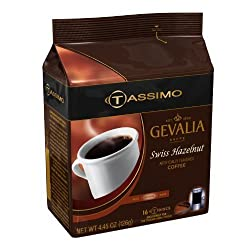 Gevalia Swiss Hazelnut, 16-Count T-Discs for Tassimo Brewers (Pack of 3) from Gevalia