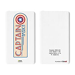 Hamee Livtel x Hamee Marvel Licensed Avengers 5000 mAh PowerBank with LED indicators and Reversible Micro-USB cable (Captain America / Badge)