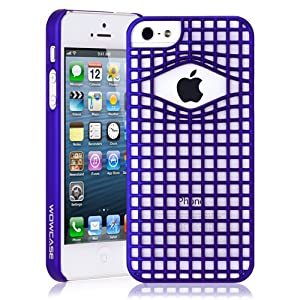 Wowcase Fortress Snap On Case (Blue) for Apple iPhone 5