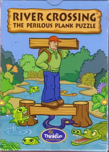 Picture of Think fun River Crossing - The Perilous Plank Puzzle (B000WU7H40) (Pegged Puzzles)