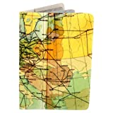 Airways Map Journal (Diary, Notebook) w/ Moleskine Cahier Pocket Cover