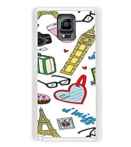 ifasho Modern Art Design Pattern camera box spec love tower Back Case Cover for Samsung Galaxy Note 3