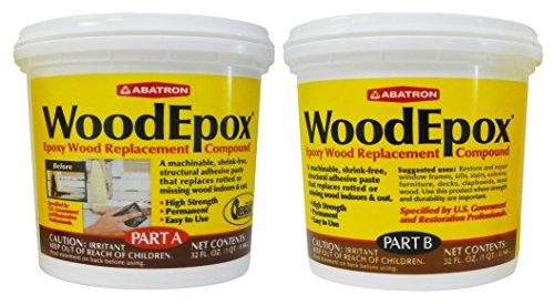 Abatron Woodepox Epoxy Wood Replacement Compound 2 Quart Kit Part A B 051191441080