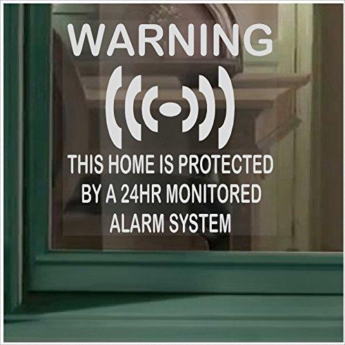 Platinum Place - Adesivi per finestre protette da sistema di allarme, 6 pz, parte della serie di accessori di avvertimento per sicurezza 24 ore su 24, per casa, ufficio, immobili