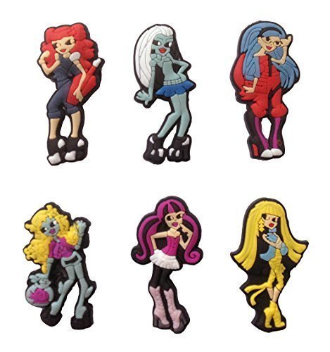 Monster High School Girls Fridge Magnets 6 Pcs Set #1