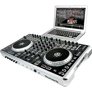 Numark N4 - Controlador de DJ (4 canales), color plateado