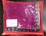 Janasya Womens Chiffon Saree (JNE0655.D _Multi-Coloured)