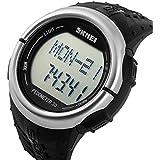 Skmei Men Women Heart Rate Monitor Pedometer Digital Sport Watch 50m Waterproof