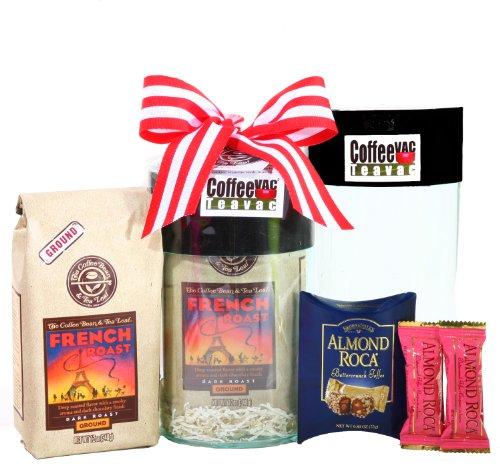 Alder Creek Gifts Coffee Bean & Tea Leaf 12oz French Roast Coffee Vac Gift Set