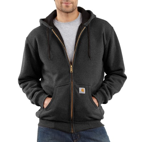 Carhartt Men's Thermal Lined Sweatshirt Zip Front Hooded Original Fit,Charcoal Heather  (Closeout),XX-Large (Insulated Carhartt Hoodie compare prices)