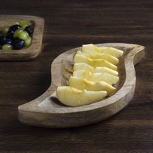 Store Indya, S - a forma di Servire intagliato vassoio piatto a mano in legno da cucina Serveware accessori