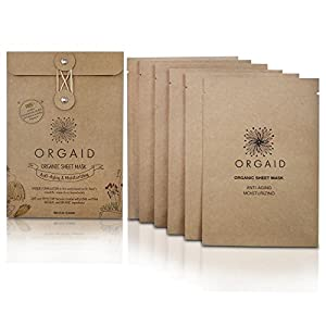 ORGAID Anti-aging & Moisturizing Organic Sheet Mask | Made in USA