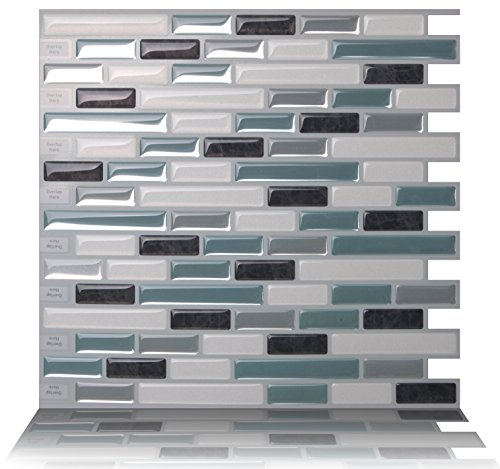 Tic Tac Tiles® - High Quality Anti-mold Peel and Stick Wall Tile in Como Marrone (5)
