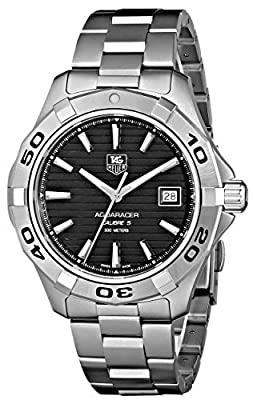 TAG Heuer Men's WAP2010BA0830 Aquaracer Black Dial Watch from TAG Heuer