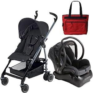 Maxi-Cosi CV057APUTRV Mila Stroller Travel System Total Black