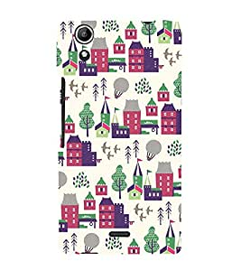 City Tree Greenery 3D Hard Polycarbonate Designer Back Case Cover for Micromax CanvasSelfie2Q340
