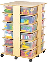 Jonti-Craft 03640JC 24 Tub Tower with Clear Tubs