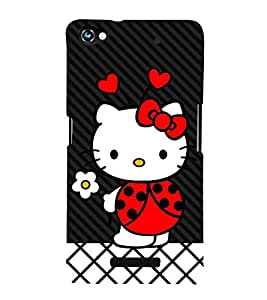 Wow Cat Cute Fashion 3D Hard Polycarbonate Designer Back Case Cover for Micromax CanvasHue2A316