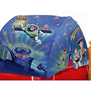 Amazon Com Disney Toy Story Bed Tent With Pushlight Toys