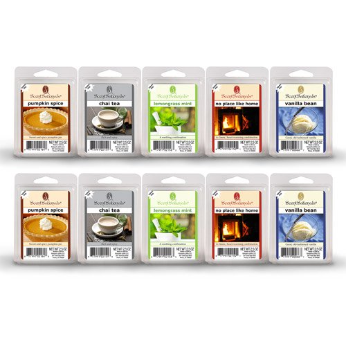 10-Pack Fall Spices Scented Wax Cubes Releases A Soothing Fragrance