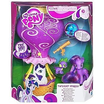My Little Pony - clin Ballon Twilight étincelle (peint / avec motif / ROSE bordure) - Twilight Sparkle & Benoît le Dragon - light-up et musique & veilleuse en mode