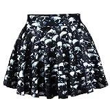 花柄フレアスカート 元気プリントスカート 和柄スカート マルチカラースカート プリントスカート
