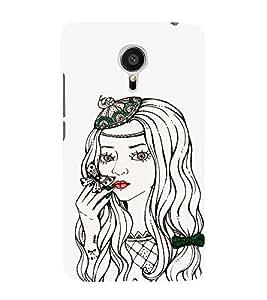 EPICCASE Cute butterfly girl Mobile Back Case Cover For Meizu MX 5 (Designer Case)