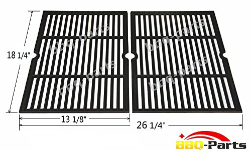 Hongso PCF652 (2-pack) Cast Iron Cooking Grid Replacement for Select Gas Grill Models by Charbroil, Coleman, CG-65P-CI, Set of 2 (Grill Grate Charbroil compare prices)