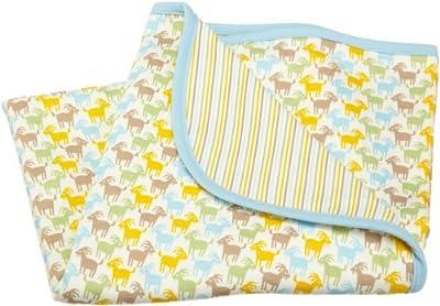 ZUTANO Billy Goat Organic Blanket, Oats, One Size