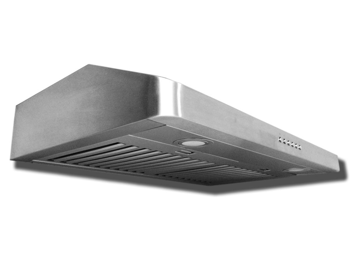 Proline PLJW 185 Under Cabinet Range Hood - Multiple Venting Options - 4 Speed - 600 Max CFM - Stainless Professional Baffle Filters Dishwasher safe - 3 Year Warranty - Sizes include 30 and 36 inch