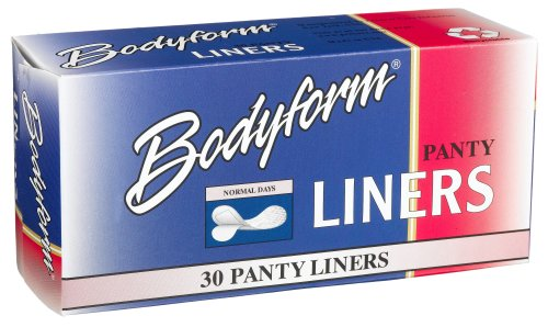 Bodyform Regular Panty Liners, 30-Count Box (Pack of 24)